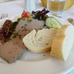 nicely presented pate starter