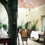 Cour intérieur du restaurant