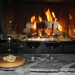 Cookies and wine by the fire