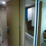 interior of room 224...small bathroom, basic functions,