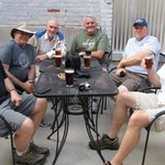 Me (Frank Bodden, green shirt) and my buddies in patio.