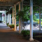 Duck Pond's terrace outside is a great place to bring your family and relax