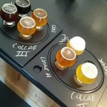 The 2 flights of beer for the 'All In' tasting ($18)