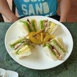 Club sandwich lunch.