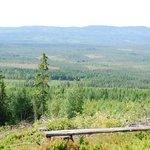 Milsvida utsikt från en av vandringslederna