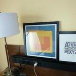 artwork and desk area