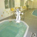 pool area and hot tub