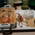 """plat de crevette du menu """"decouverte"""""""