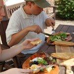 Platter dining at Merchants