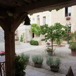 The courtyard from the room