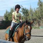 Ainhoa, riding lesson 2