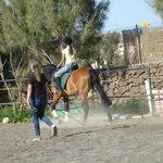 Ainhoa riding lesson 5