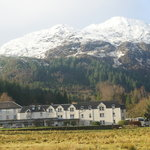 hotel and mountain