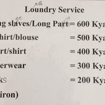 They also provide laundry service
