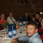 Carlo and us at another memorable lunch - taken by Colin, the only male on the tour - lucky man!