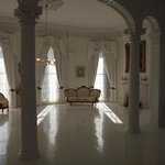 Nottoway's beautiful white ballroom