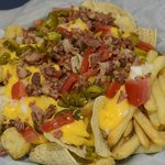 nacho sampler with fries & tots