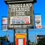 Sign at the Inn--note the claim re 1000 Island Dressing