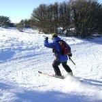 Esquiando en las pistas