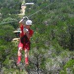 Zach on the Zipline