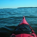 kayaking on the ocean at Lobster Buoy Campground