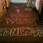 Wild West Wednesday means 8oz Sirloin 3 grilled shrimp 2 made from scratch sides all for $9.99!!