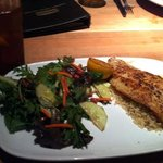 Lemon pepper fish with salad