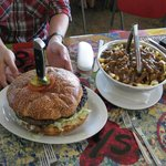 The Mammoth Burger and Family-Sized Poutine!