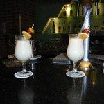 Pina Coladas at the bar lounge