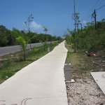 Bike path to the beach