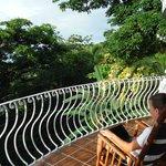 Notre balcon, avec les jolies chaises de Sarchi