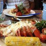 stuffed lobster...yummy!