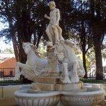 Fountain sculpture at the Montículo, La Paz