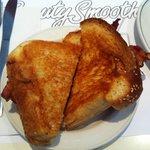 Grilled Cheese with Bacon on challah bread