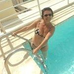 Lazer na piscina