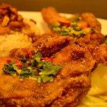 Thai chicken over rice