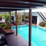 terrace on pool