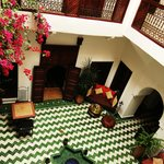 The lobby/entrance area of the Riad