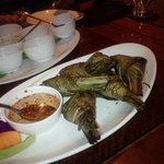 chicken in coconut leaf
