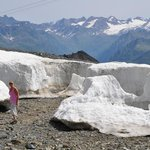 Quite a lot of snow at 2900 metres even in August