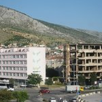 The frontline in Mostar - visited in 'The Death of Yugoslavia tour'