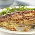 Homemade roasted vegetable quiche