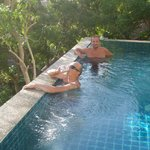 having a private pool with stunning views was a highlight of the holiday