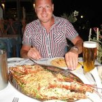 Lobster with spaghetti at The Apollon