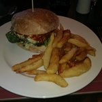 Burger and Homemade Chips