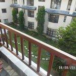 Balcony and beautiful gardens