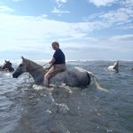 riding in the ocean!