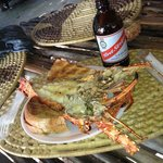 fresh garlic lobster mmm and of course a red stripe