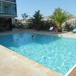 La piscine extérieure chauffée