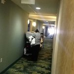 customer service: staff starting day cleaning rooms on 4 thfloor